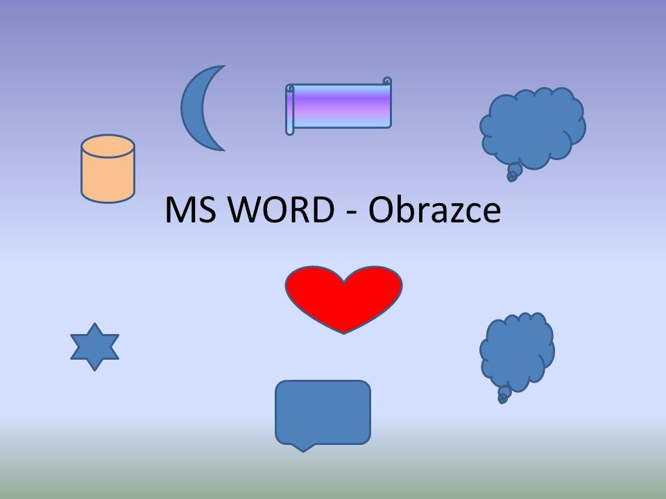 MS WORD - Obrazce