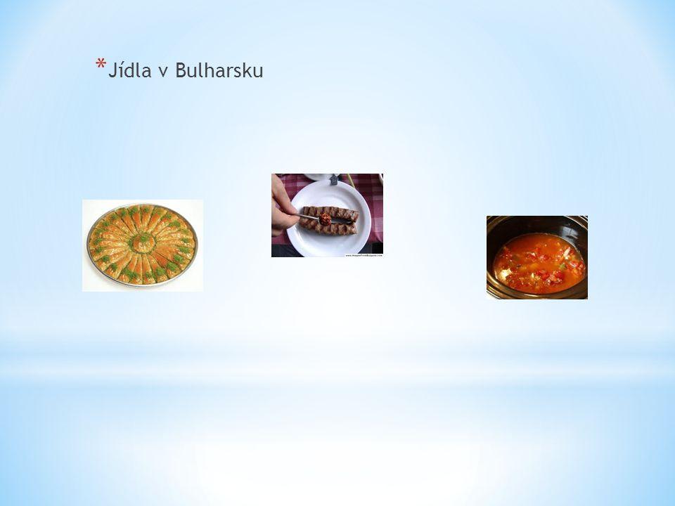 * Jídla v Bulharsku