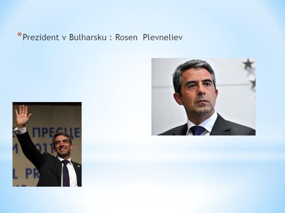* Prezident v Bulharsku : Rosen Plevneliev