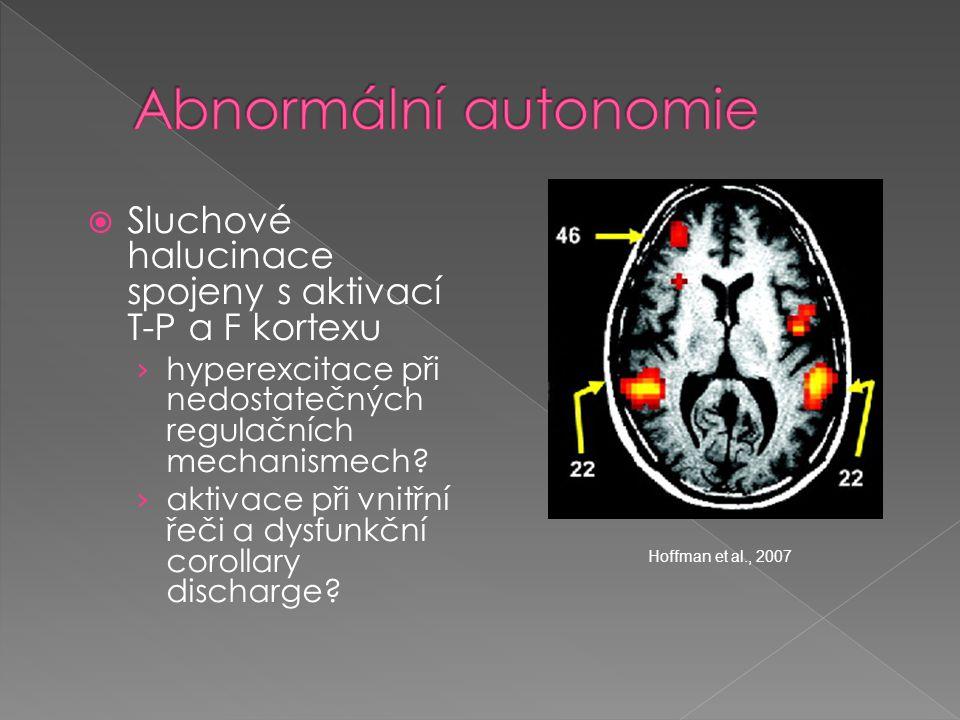  Sluchové halucinace spojeny s aktivací T-P a F kortexu › hyperexcitace při nedostatečných regulačních mechanismech? › aktivace při vnitřní řeči a dy