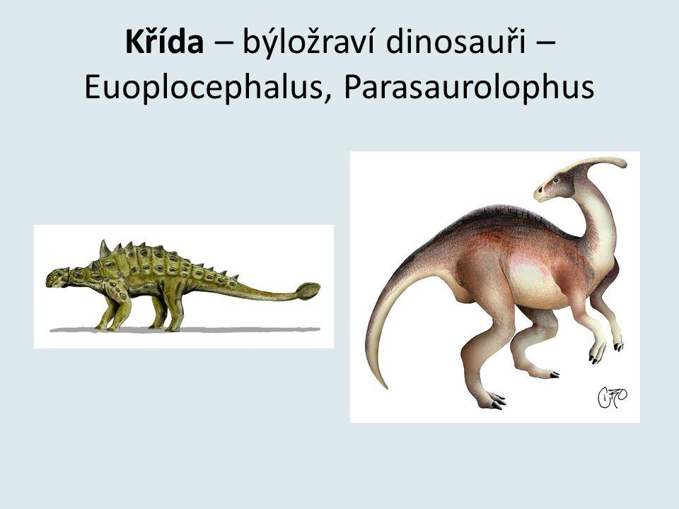 Křída – býložraví dinosauři – Euoplocephalus, Parasaurolophus