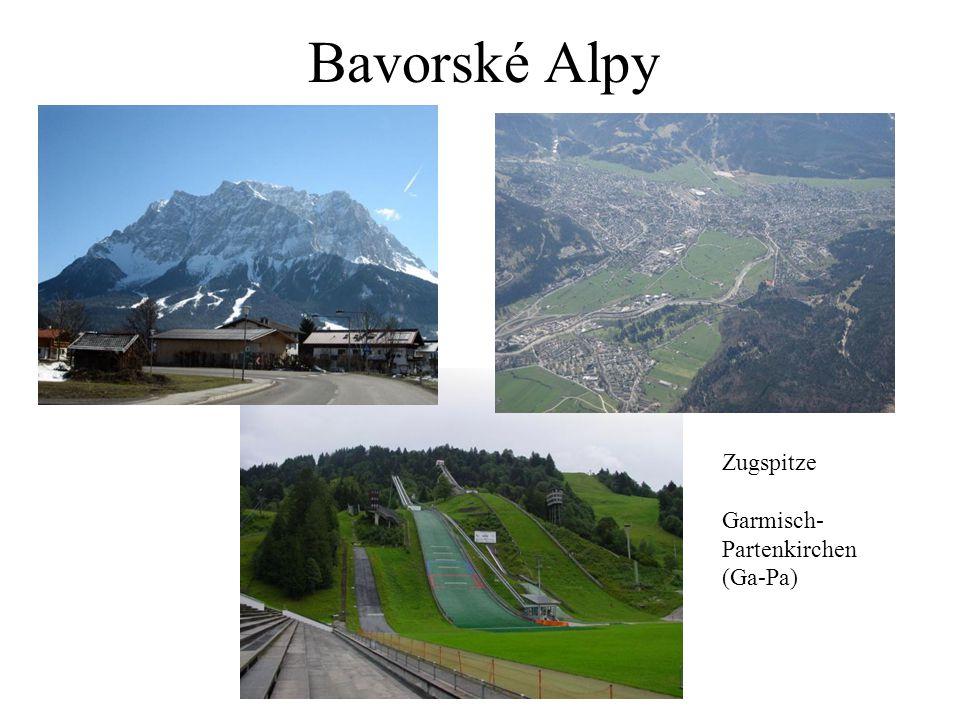 Bavorské Alpy Zugspitze Garmisch- Partenkirchen (Ga-Pa)
