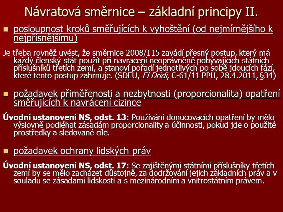 Návratová směrnice – rozsah působnosti Čl.
