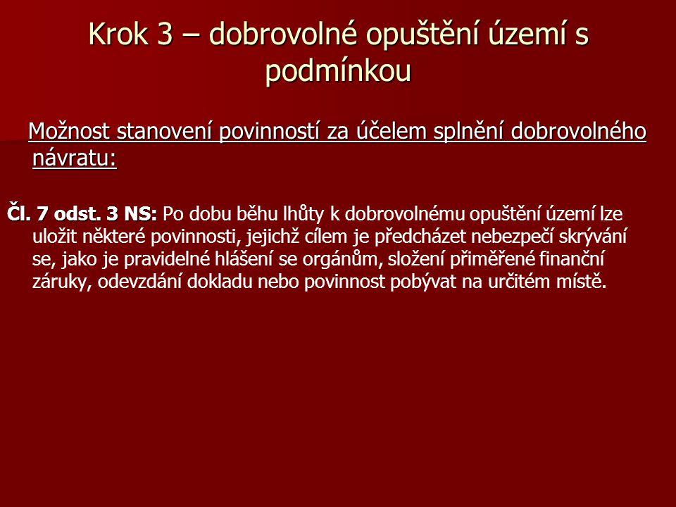 Krok 4 – Vyhoštění 1.Subsidiární (doplňkový) charakter vyhoštění: Čl.