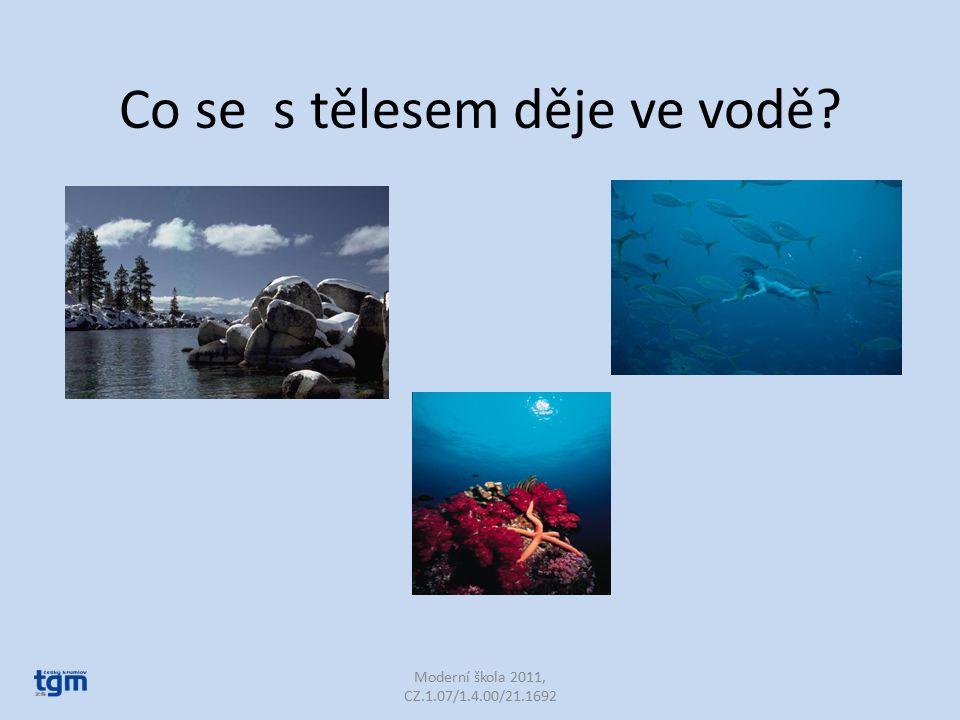 Co se s tělesem děje ve vodě Moderní škola 2011, CZ.1.07/1.4.00/21.1692