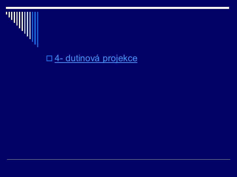  4- dutinová projekce 4- dutinová projekce