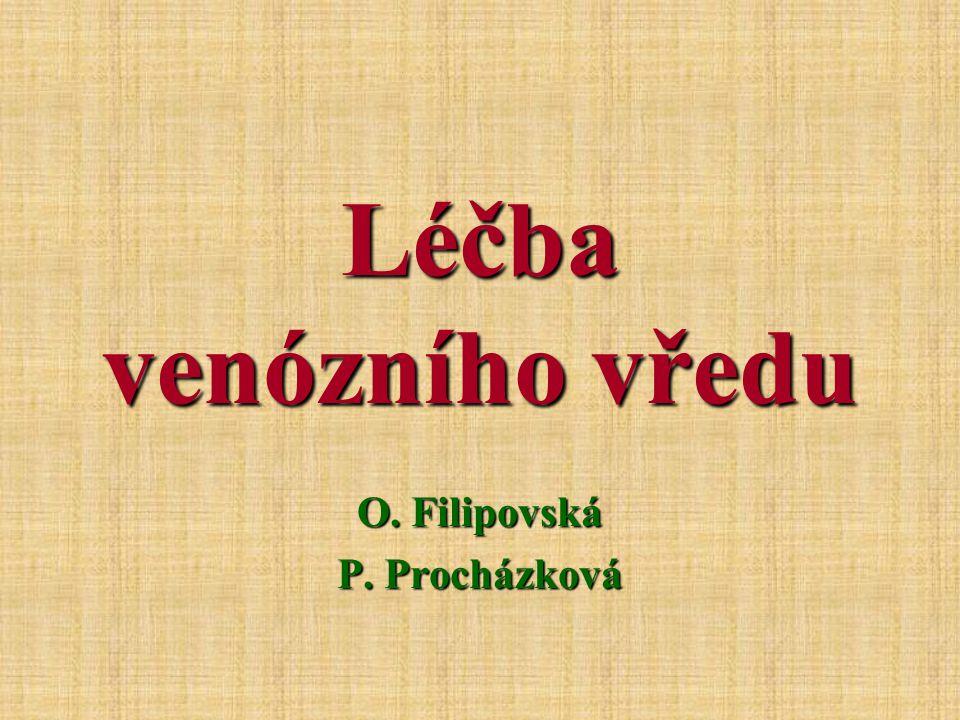 Léčba venózního vředu O. Filipovská P. Procházková