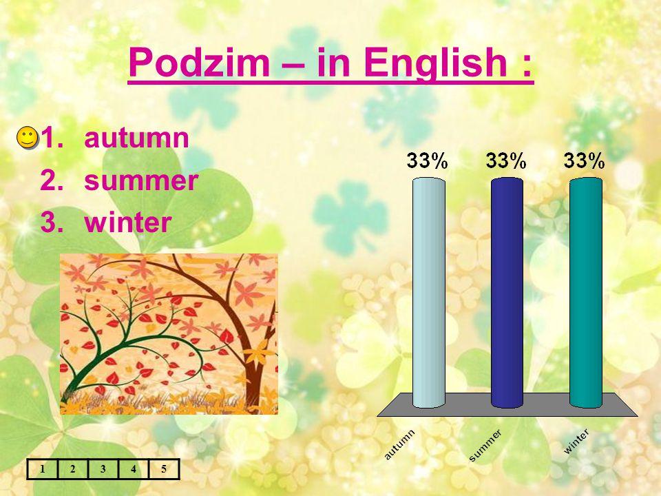 Zima – in English : 12345 1.winter 2.autumn 3.spring