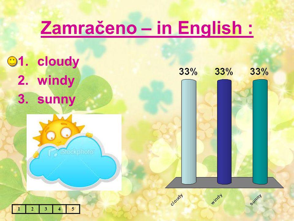 Slunce – in English : 12345 1.sunny 2.summer 3.sun