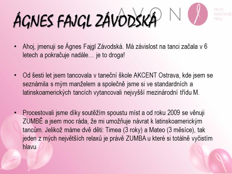 ÁGNES FAJGL ZÁVODSKÁ Ahoj, jmenuji se Ágnes Fajgl Závodská. Má závislost na tanci začala v 6 letech a pokračuje nadále… je to droga! Od šesti let jsem