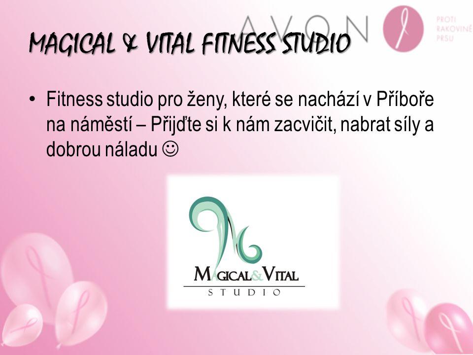 MAGICAL & VITAL FITNESS STUDIO Fitness studio pro ženy, které se nachází v Příboře na náměstí – Přijďte si k nám zacvičit, nabrat síly a dobrou náladu