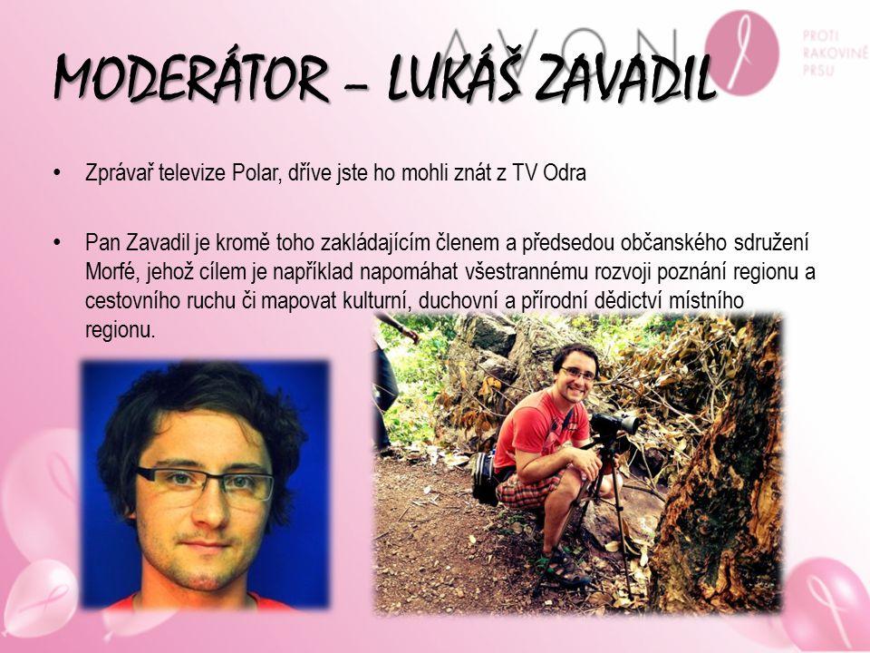MODERÁTOR – LUKÁŠ ZAVADIL Zprávař televize Polar, dříve jste ho mohli znát z TV Odra Pan Zavadil je kromě toho zakládajícím členem a předsedou občansk