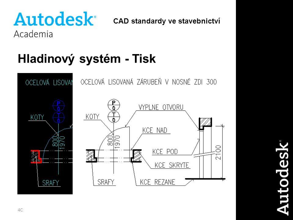 4C Hladinový systém - Tisk CAD standardy ve stavebnictví