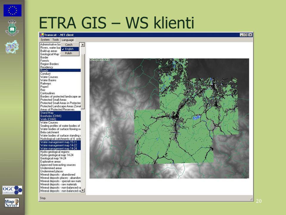20 ETRA GIS – WS klienti