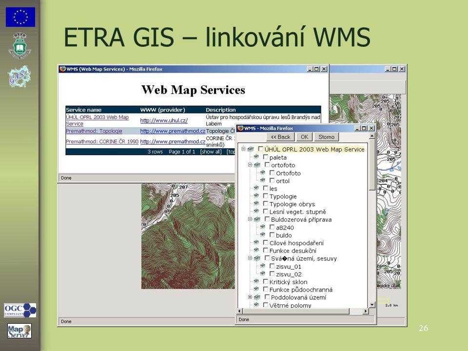 26 ETRA GIS – linkování WMS