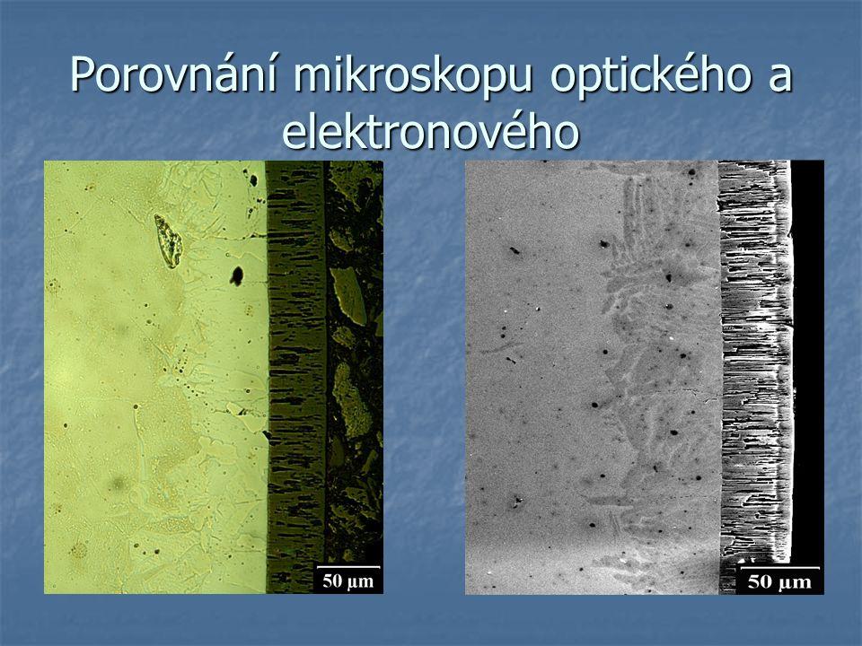 Porovnání mikroskopu optického a elektronového