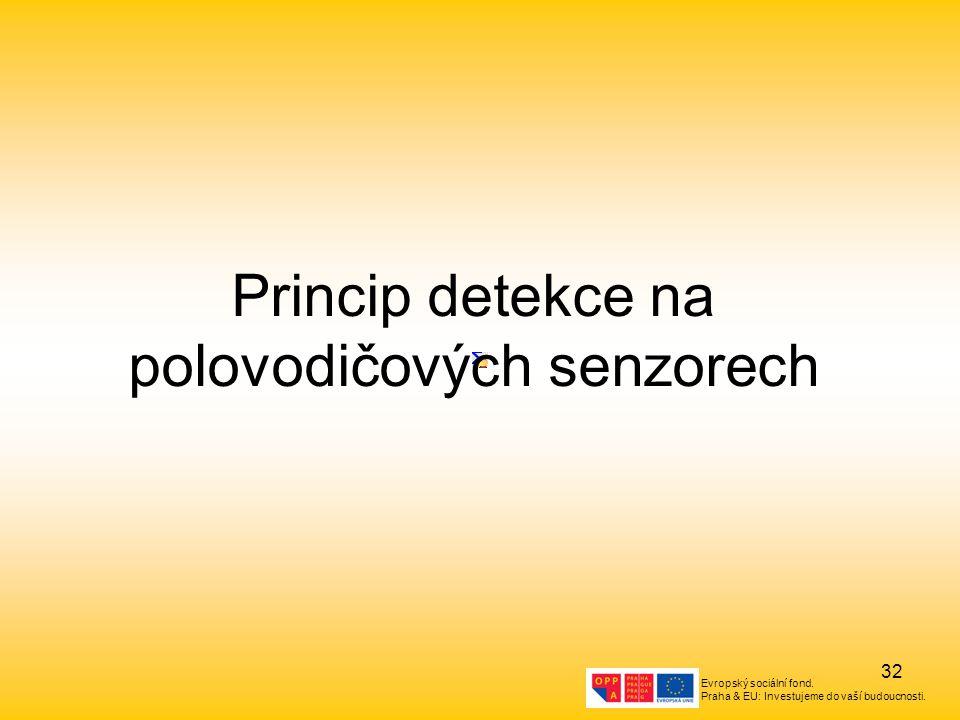 Evropský sociální fond. Praha & EU: Investujeme do vaší budoucnosti. 32 Princip detekce na polovodičových senzorech