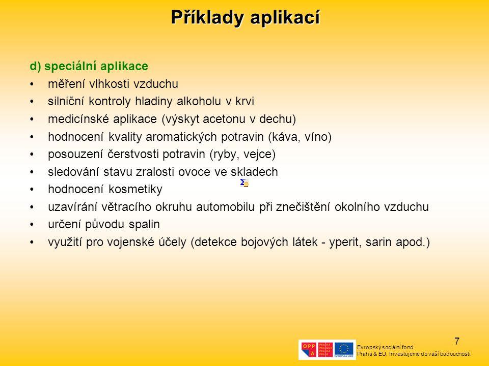 Evropský sociální fond. Praha & EU: Investujeme do vaší budoucnosti. 7 Příklady aplikací d) speciální aplikace měření vlhkosti vzduchu silniční kontro