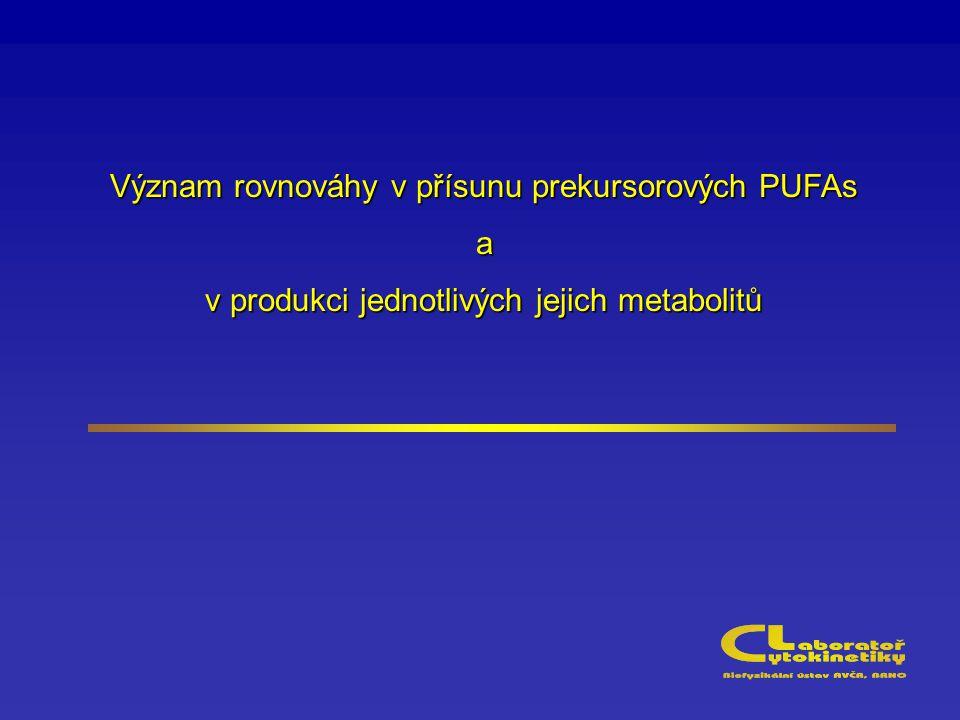 Význam rovnováhy v přísunu prekursorových PUFAs a v produkci jednotlivých jejich metabolitů