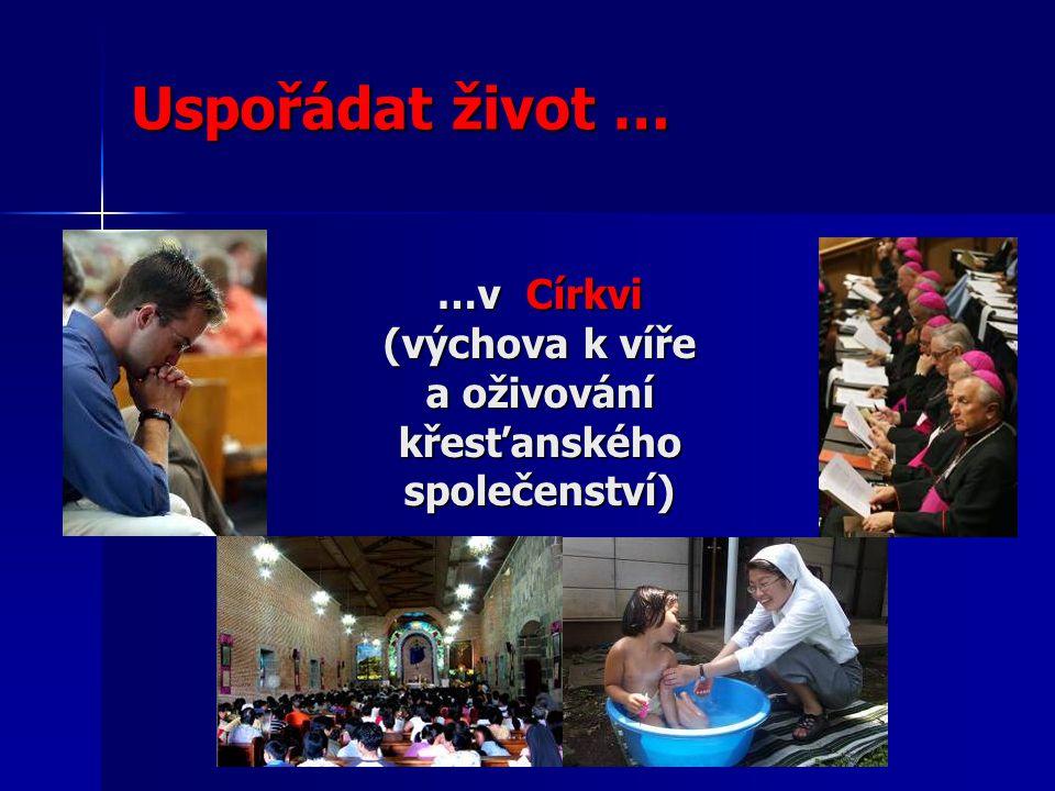 …v Církvi (výchova k víře a oživování křesťanského společenství)
