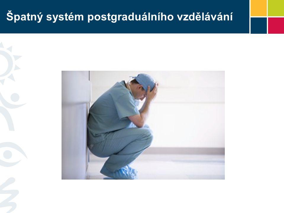 Špatný systém postgraduálního vzdělávání