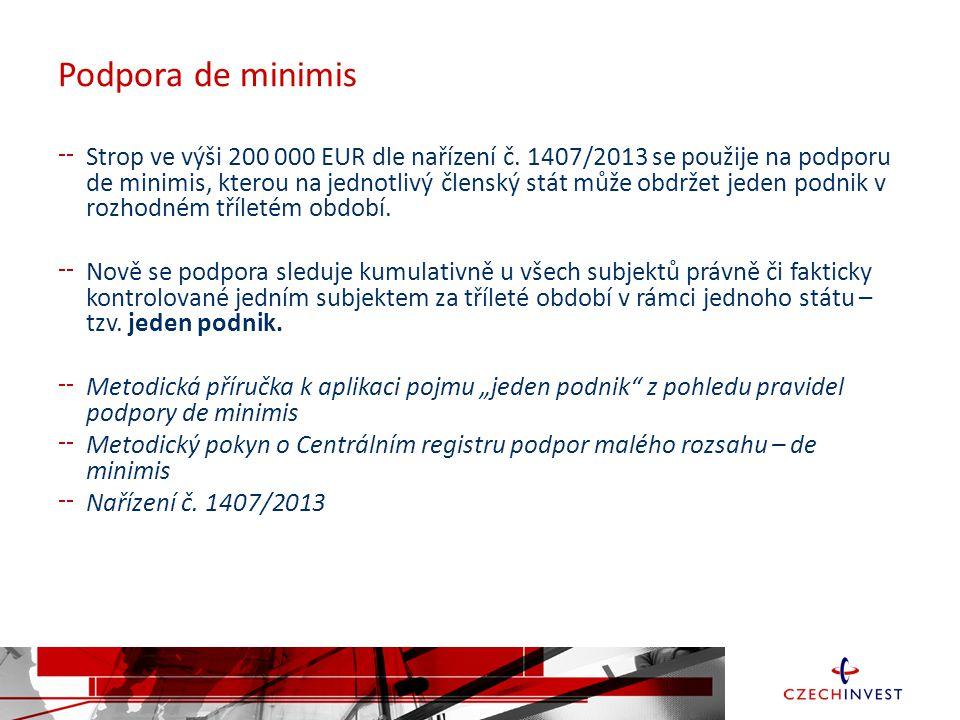 Spolupráce Forma a výše podpory:  Dotace: 0,5 – 80 mil.