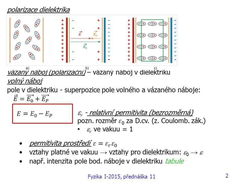 33 8.5 Řešení stejnosměrných obvodů 9. Magnetické pole Fyzika I-2015, přednáška 11