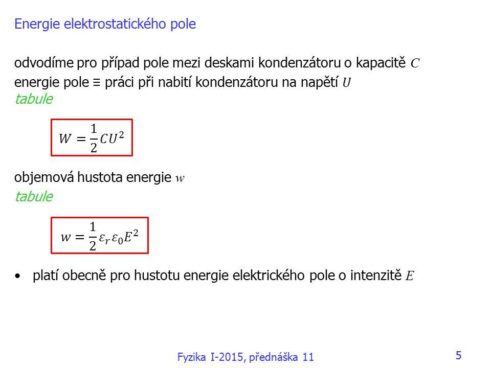 16 8.6 Měření proudu a napětí 16 Fyzika I-2015, přednáška 11
