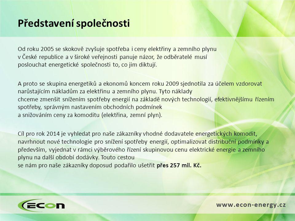 Nabídka služeb Externí energetik Správní a administrativní služby Analytické a obchodní služby Technické služby