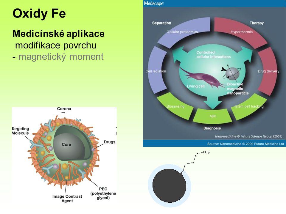 Medicínské aplikace modifikace povrchu - magnetický moment