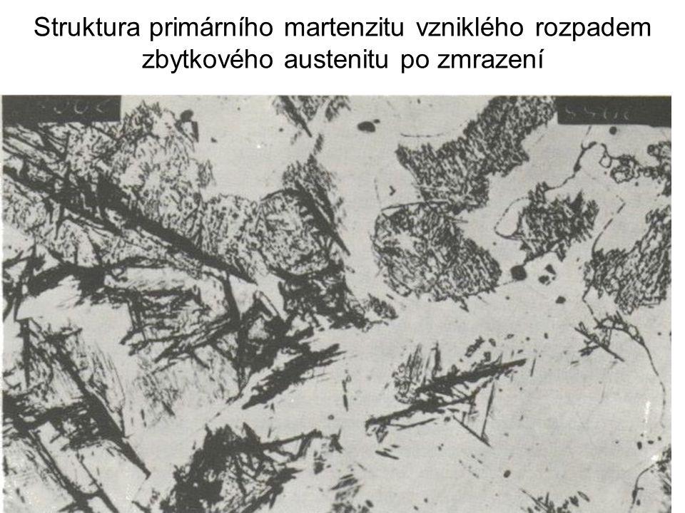 Struktura martenzitu se zbytkovým austenitem