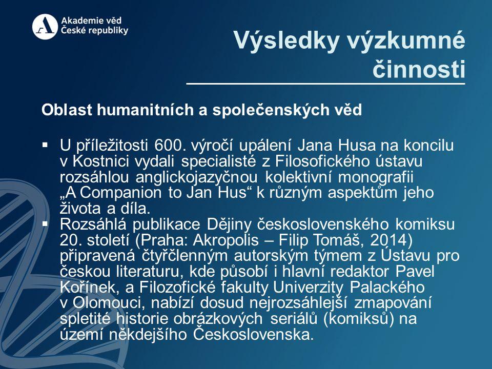 Oblast humanitních a společenských věd  U příležitosti 600.