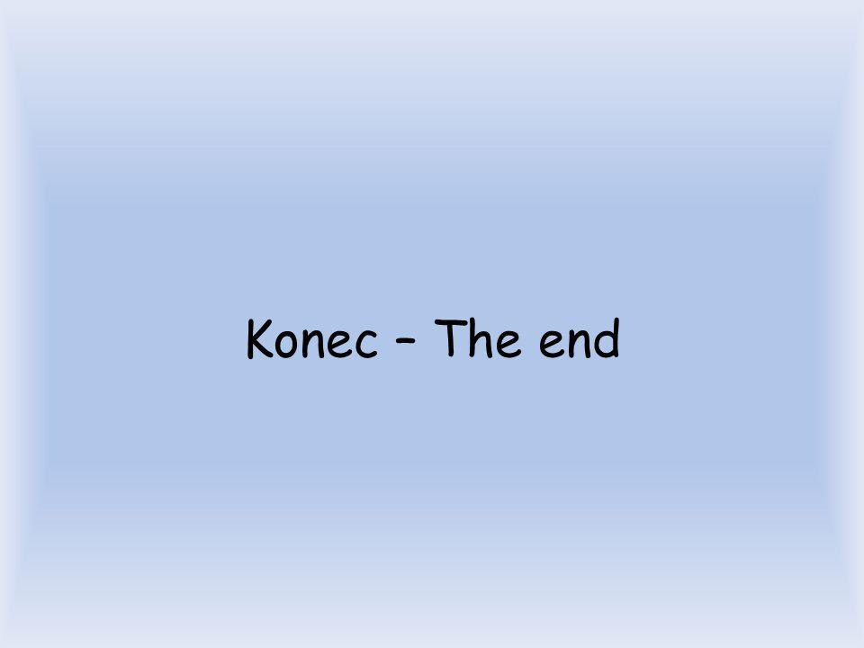 Konec – The end