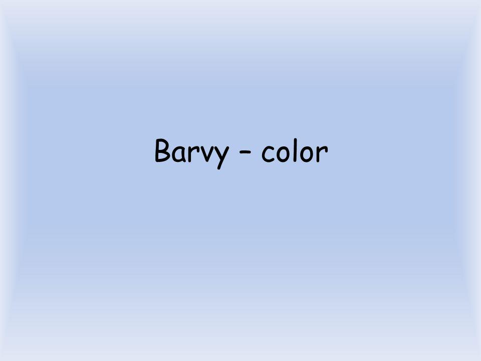 Barvy – color