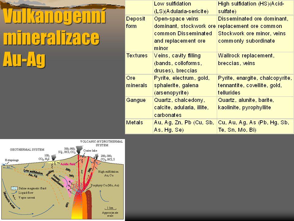 Vulkanogenní mineralizace Au-Ag