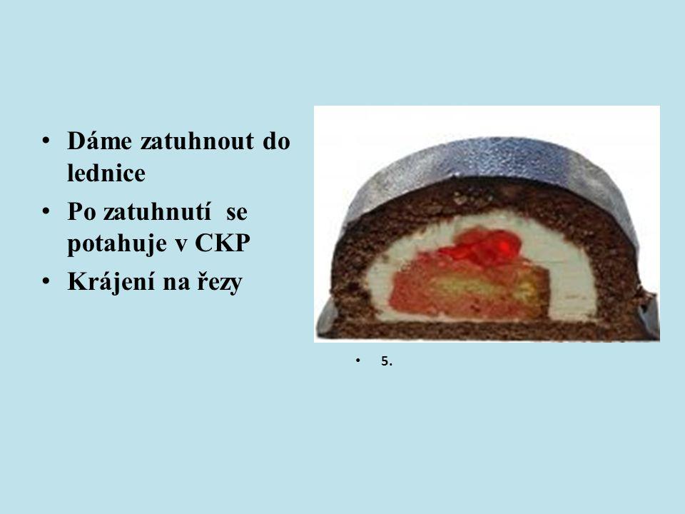 Oříšková pochoutka á 60g Obdélníkový řez ( k rychlé spotřebě) Potažený CKP Ozdoben lískovým ořechem Chuť výrazně oříšková Na řezu viditelné 4 vrstvy plátu a 3 krému 6.