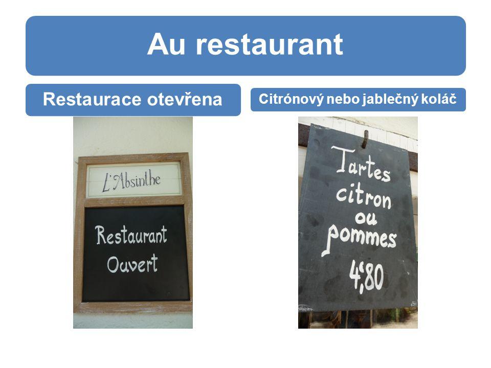 Au restaurant Restaurace otevřena Citrónový nebo jablečný koláč