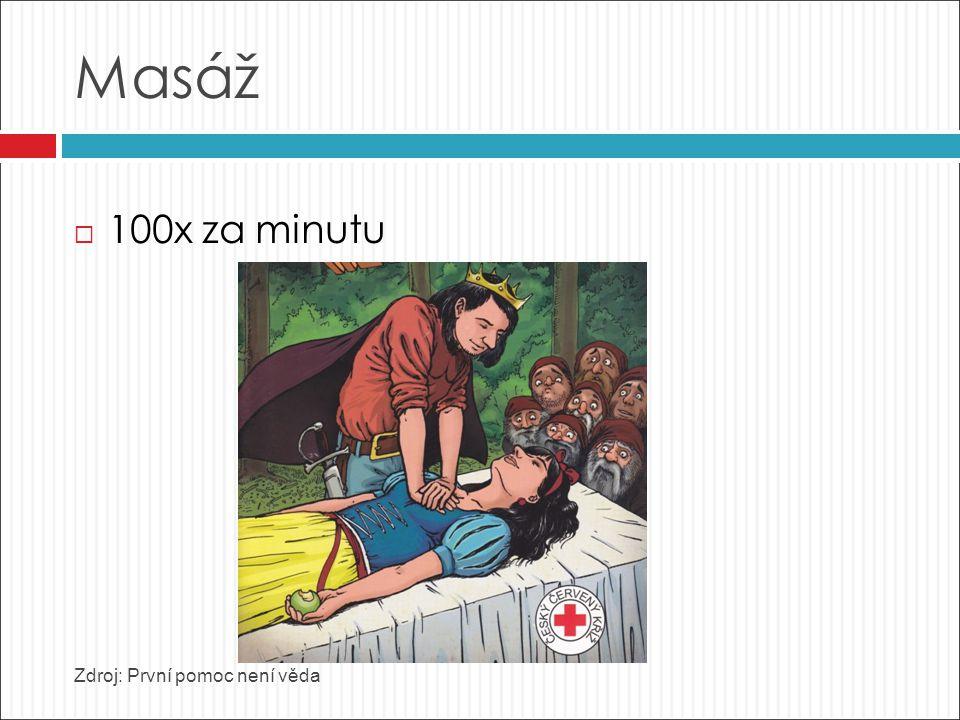 Masáž  100x za minutu Zdroj: První pomoc není věda