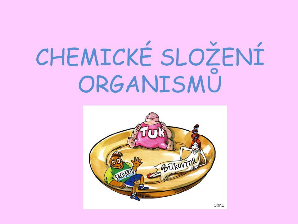 CHEMICKÉ SLOŽENÍ ORGANISMŮ Obr.1