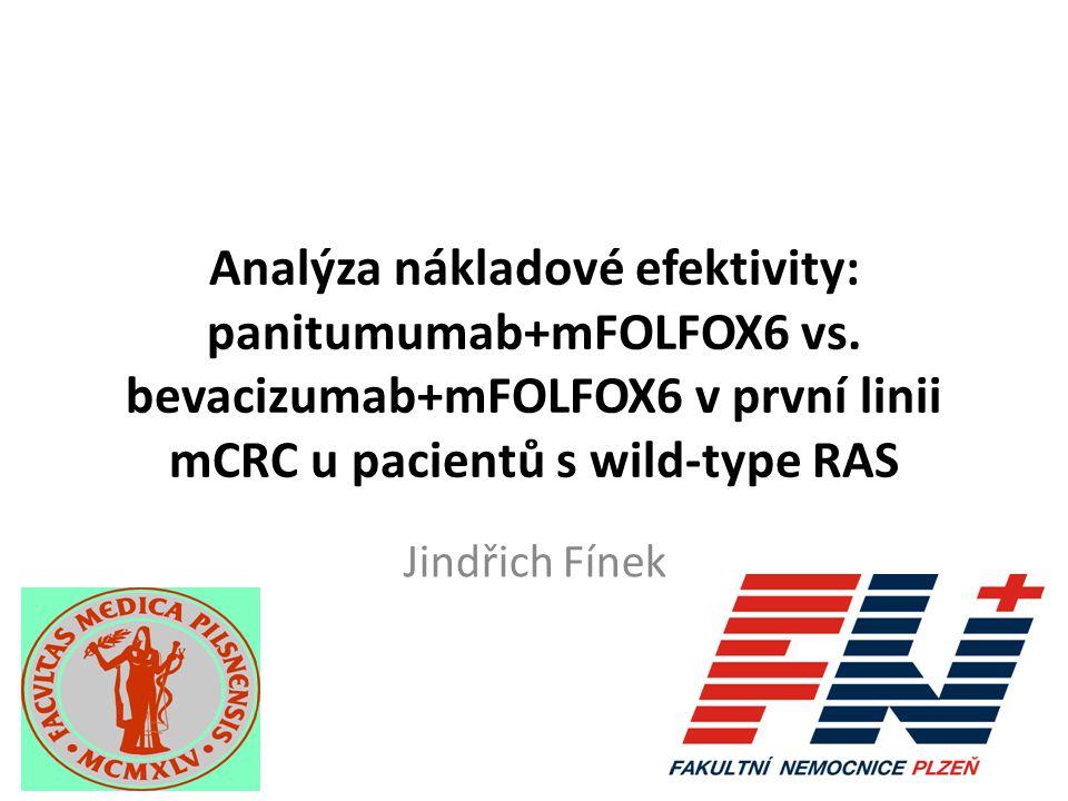 Panitumumab+mFOLFOX je nákladově efektivní i v českých podmínkách Výsledky ekonomického modelování: Režim panitumumab+mFOLFOX je účinnější – vyšší zisk QALY i LY Režim panitumumab+FOLFOX6 je nákladnější – delší doba do progrese, delší aktivní léčba a delší přežití generují náklady Poměr vynaložených nákladů vůči získaným QALY je v českém zdravotním systému akceptovatelný – Cca 800 tis.