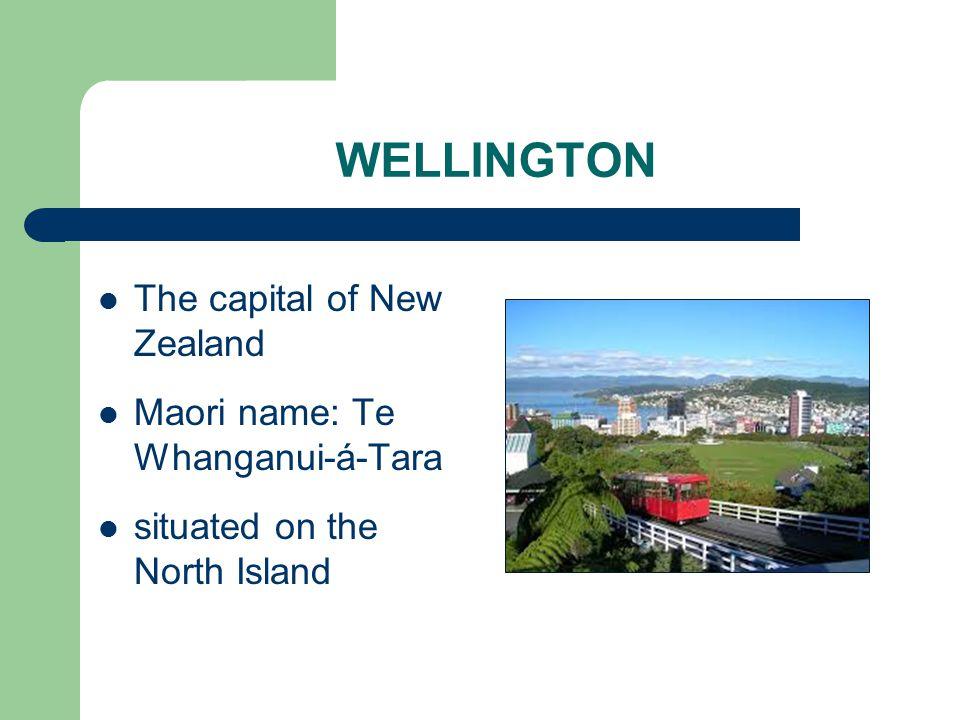 WELLINGTON The capital of New Zealand Maori name: Te Whanganui-á-Tara situated on the North Island