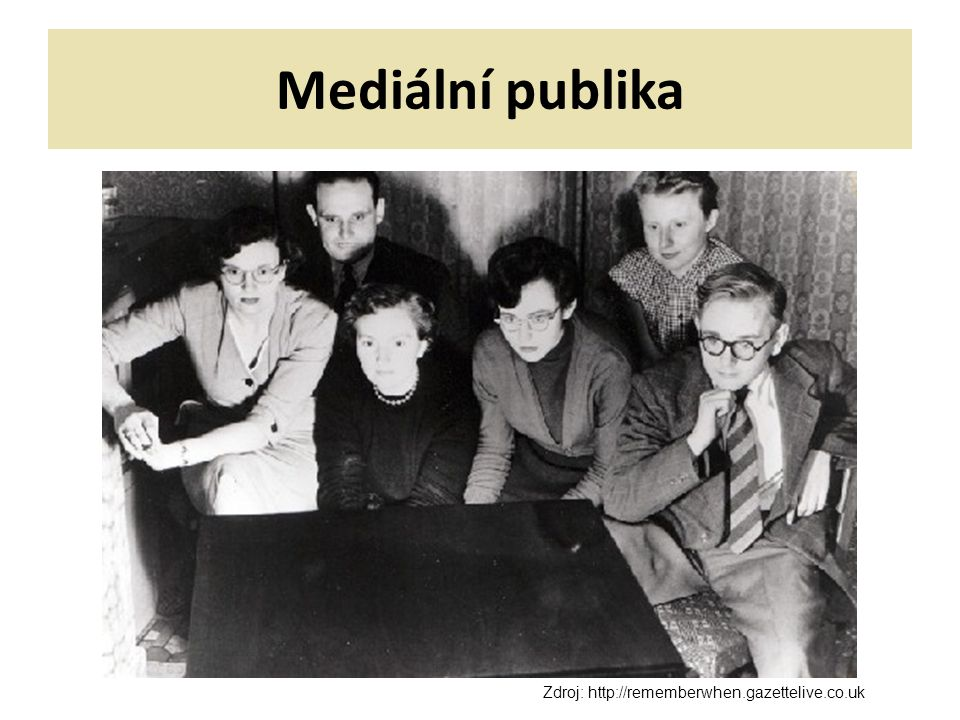 Mediální publika Zdroj: http://rememberwhen.gazettelive.co.uk