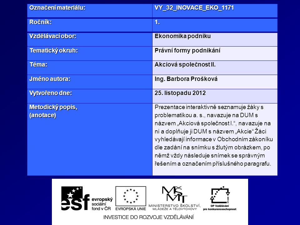 Označení materiálu: VY_32_INOVACE_EKO_1171Ročník:1.