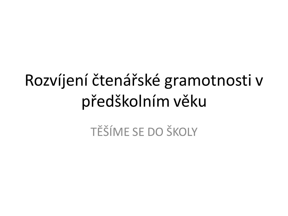 Doporučená literatura (1): BEDNÁŘOVÁ, Jiřina a ŠMARDOVÁ, Vlasta (2011).