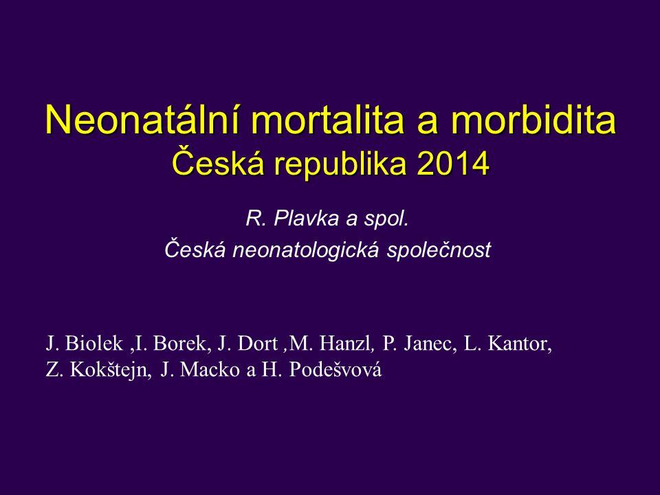 Neonatální mortalita a morbidita Česká republika 2014 R.
