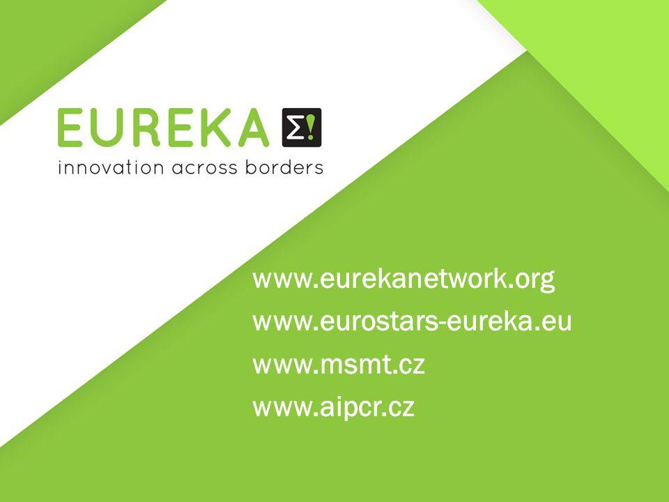 www.eurekanetwork.org www.eurostars-eureka.eu www.msmt.cz www.aipcr.cz