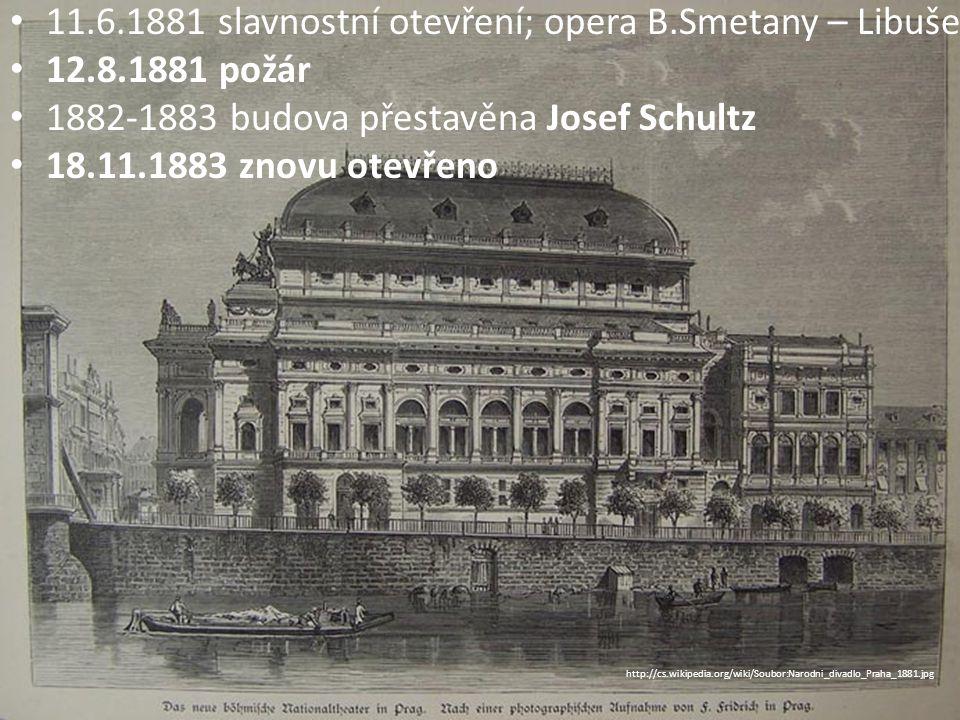 Výzdoba: J.V.Myslbek – sochy M.Aleš – lunetové obrazy Vlast V.