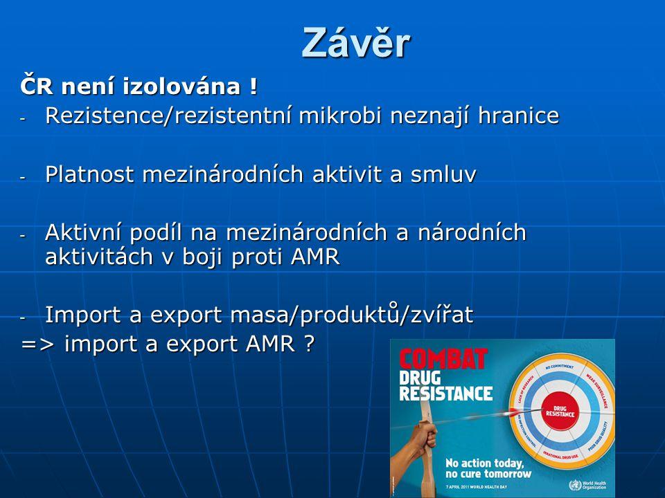 Závěr Závěr ČR není izolována .