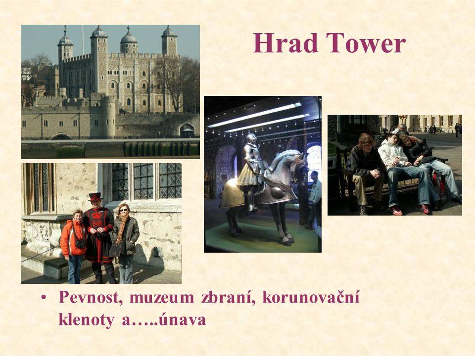 Hrad Tower Pevnost, muzeum zbraní, korunovační klenoty a…..únava