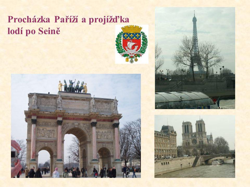 Procházka Paříží a projížďka lodí po Seině